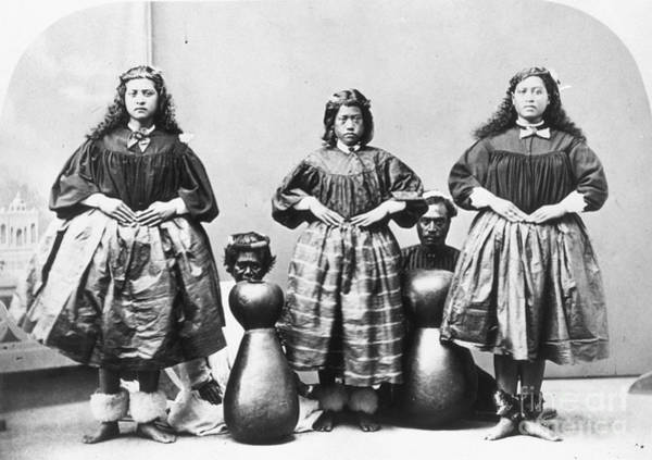 Photograph - Hula Dancers, C1875 by Granger