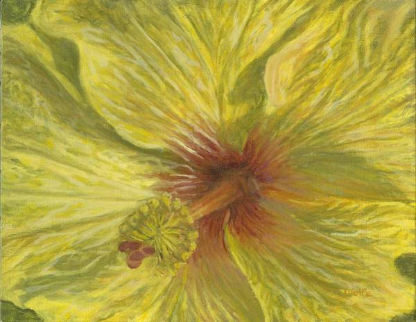 Hibiscus Flower Painting - Hula Girl by Michael Allen Wolfe