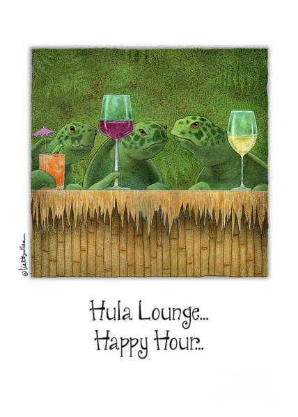 Painting - Hula Lounge Happy Hour... by Will Bullas