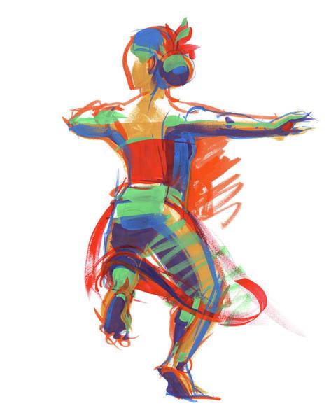 Painting - Hula Wahine Ikaika by Judith Kunzle