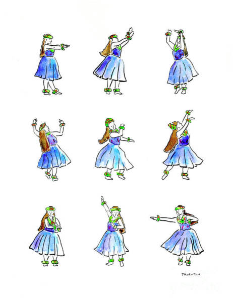 Painting - Hula X 9 by Diane Thornton