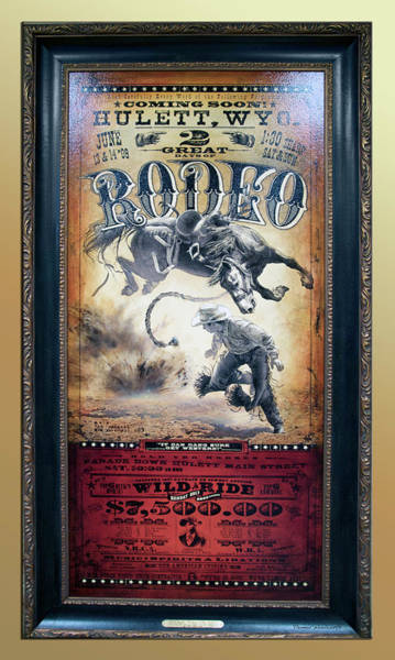 Wall Art - Photograph - Hulett Wyoming Rodeo Signage by Thomas Woolworth
