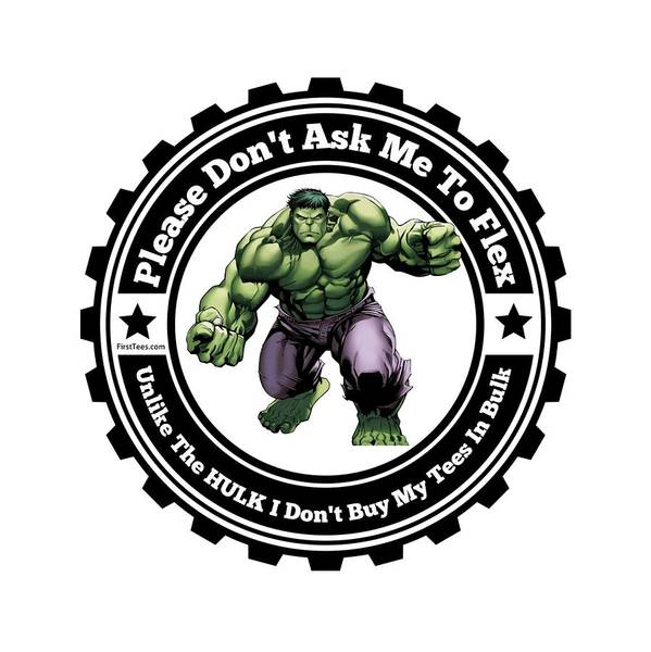 Powerlifting Digital Art - Hulk Flex by FirstTees Motivational Artwork