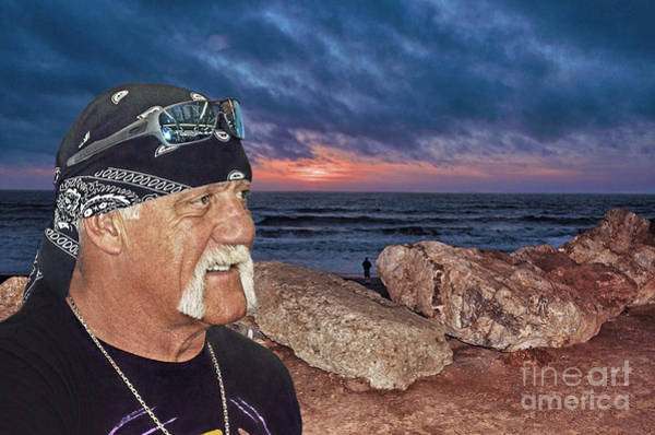 Pro Wrestler Wall Art - Photograph - Hulk Hogan At The End Of The Day by Jim Fitzpatrick