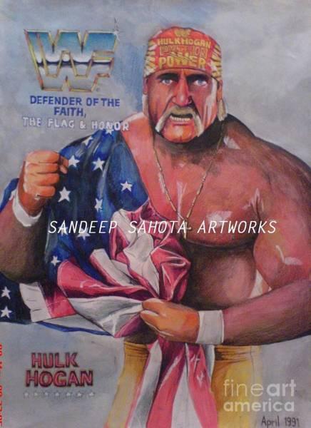 Orlando Bloom Painting - Hulk Hogan by San Art Studio