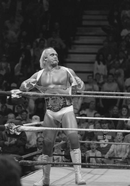 Wwe Wall Art - Photograph - Hulk Hogan The Champion by Bill Cubitt