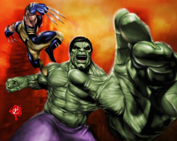 Painting - Hulk by Pete Tapang