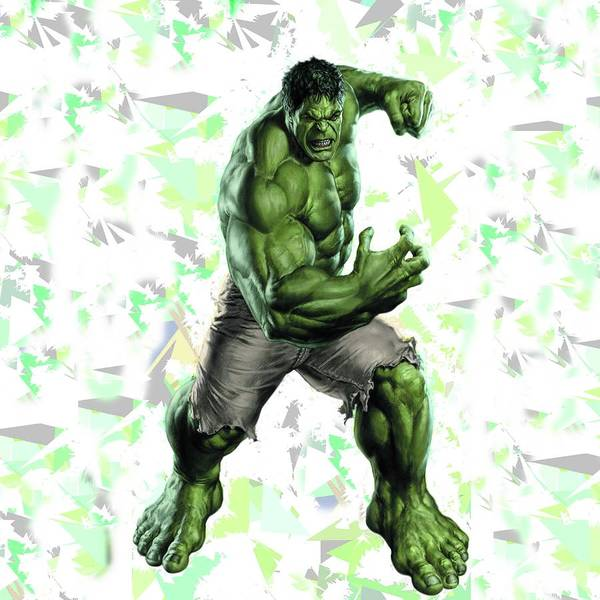 Hulk Splash Super Hero Series Art Print