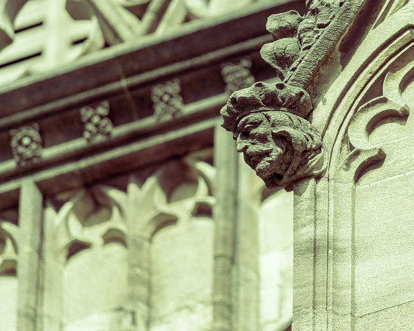 Photograph - Human Face A On St Mary Redcliffe Church Bristol by Jacek Wojnarowski