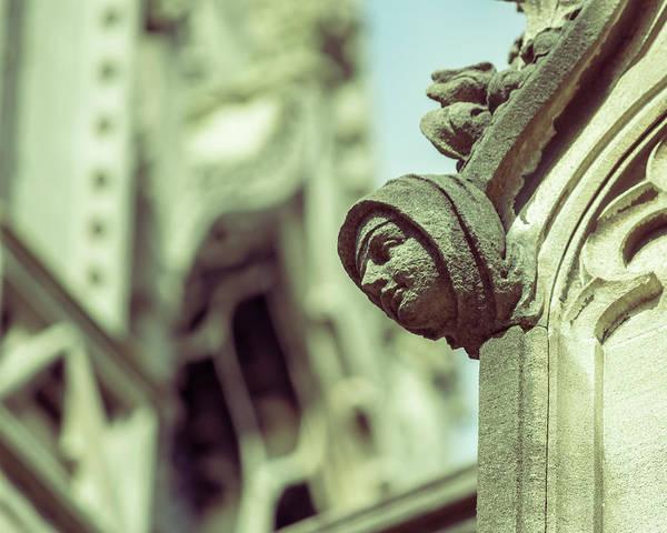 Photograph - Human Face C On St Mary Redcliffe Church Bristol by Jacek Wojnarowski