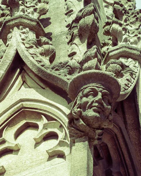 Photograph - Human Face D On St Mary Redcliffe Church Bristol by Jacek Wojnarowski