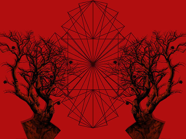 Red Digital Art - Human Tree by Arouse Works