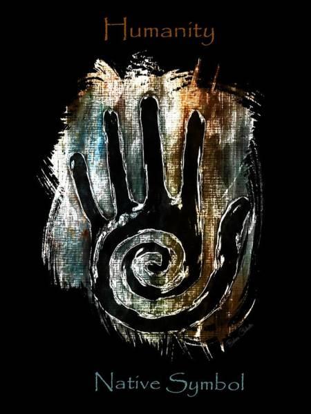 Petroglyphs Digital Art - Humanity Native Symbol by Barbara Chichester