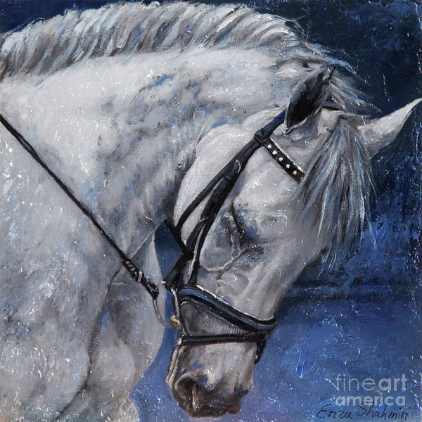 Dressage Painting - Humble Beauty by Portraits By NC