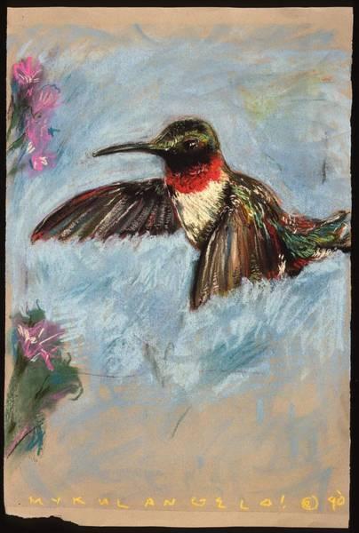 Avian Drawing - Hummer by Mykul Anjelo