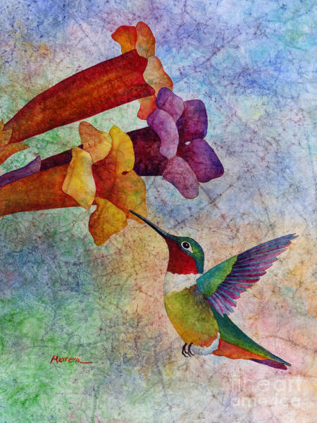 Humming Bird Wall Art - Painting - Hummer Time by Hailey E Herrera