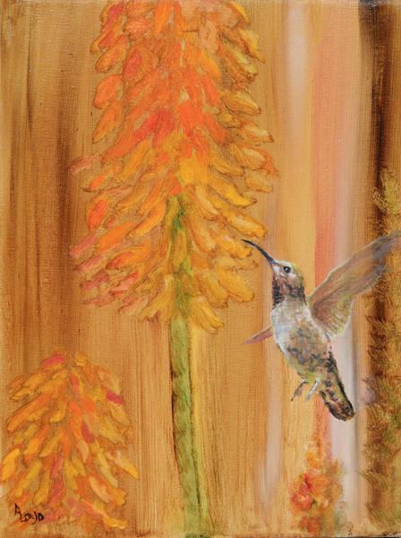 Wall Art - Painting - Humming Bird Harvest by Ann Loyd