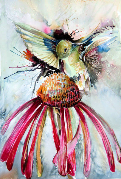 Humming Bird Wall Art - Painting - Humming Bird by Mindy Newman
