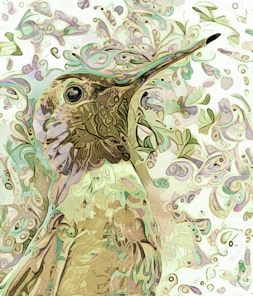 Mixed Media - Humming Happily by Susan Maxwell Schmidt