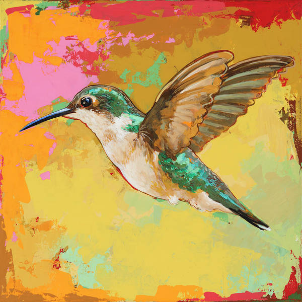 Wall Art - Painting - Hummingbird #19 by David Palmer