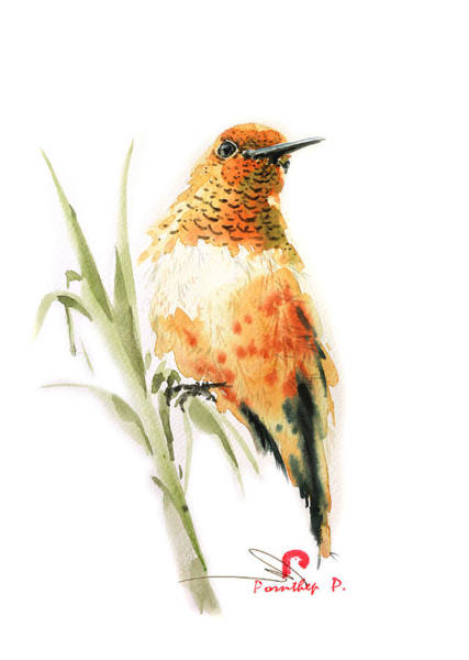 Birdman Painting - Hummingbird 2 by Pornthep Piriyasoranant