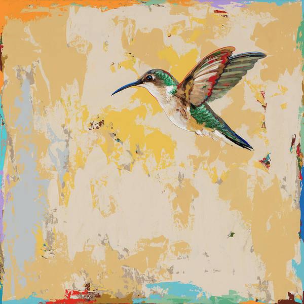 Small Birds Painting - Hummingbird #23 by David Palmer
