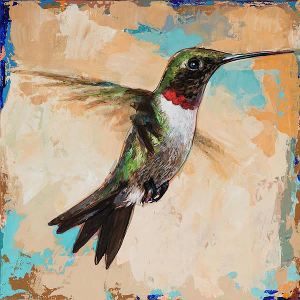 Small Birds Painting - Hummingbird #9 by David Palmer