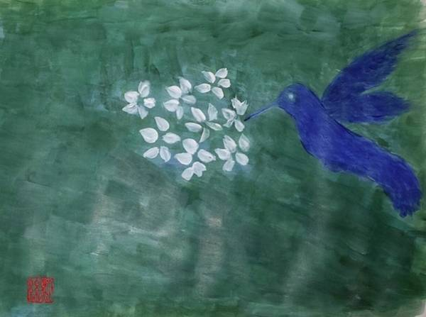 Painting - Hummingbird And The Lily Pads by Margaret Welsh Willowsilk