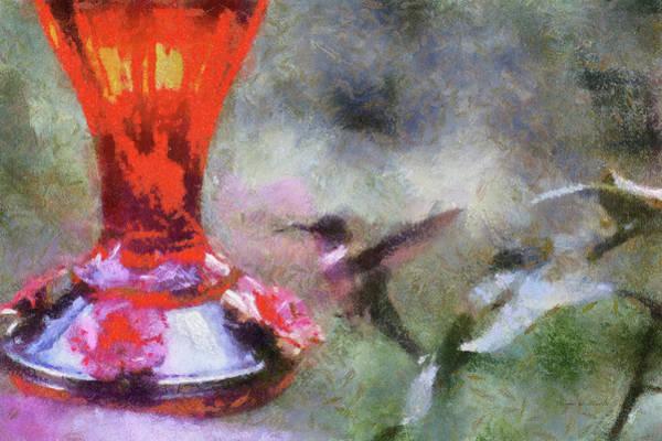 Nectar Mixed Media - Hummingbird At Sunrise Pa by Thomas Woolworth