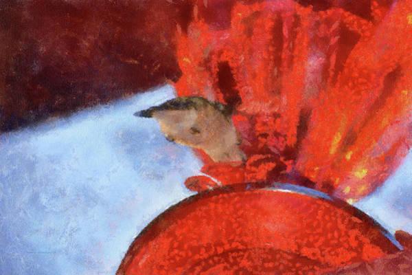 Nectar Mixed Media - Hummingbird At Sunrise Under View Pa by Thomas Woolworth