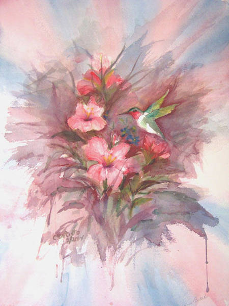 Wall Art - Painting - Hummingbird by Connie Basista