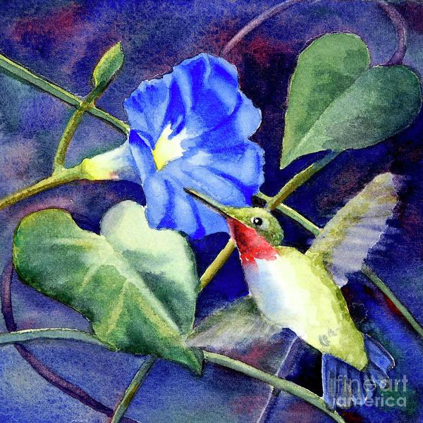 Glory Painting - Hummingbird Delight by Bonnie Rinier