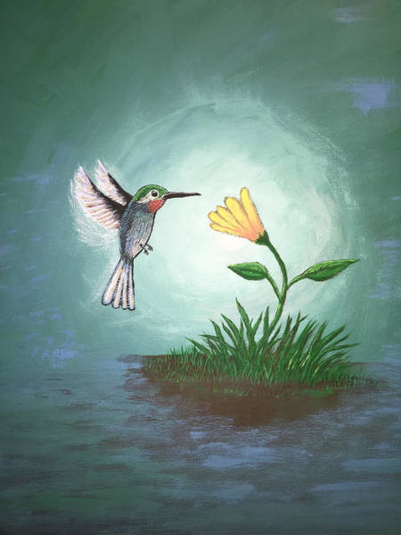 Wall Art - Painting - Hummingbird II by Antonio Romero