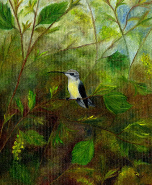 Painting - Hummingbird In Pollen by FT McKinstry