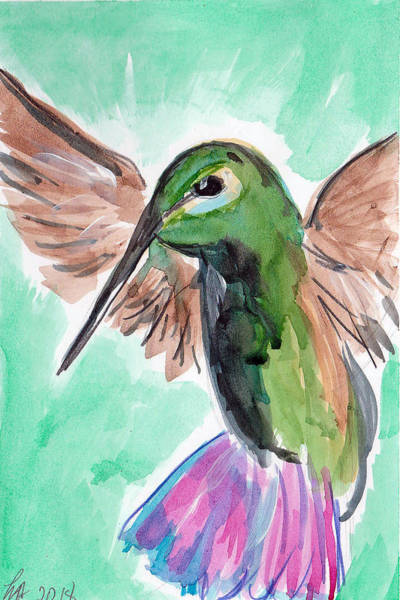 Painting - Hummingbird4 by Loretta Nash