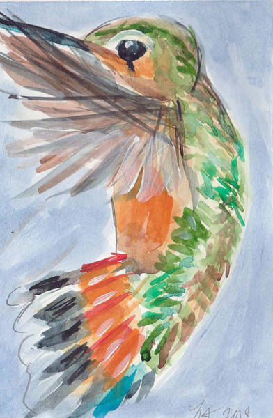 Painting - Hummingbird87 by Loretta Nash