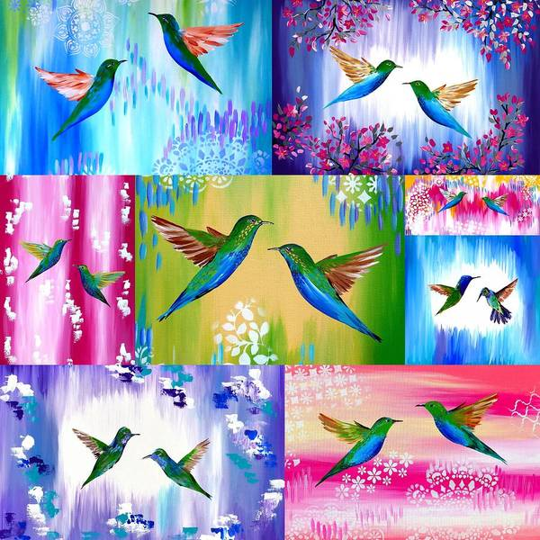 Framing Painting - Hummingbirds by Cathy Jacobs