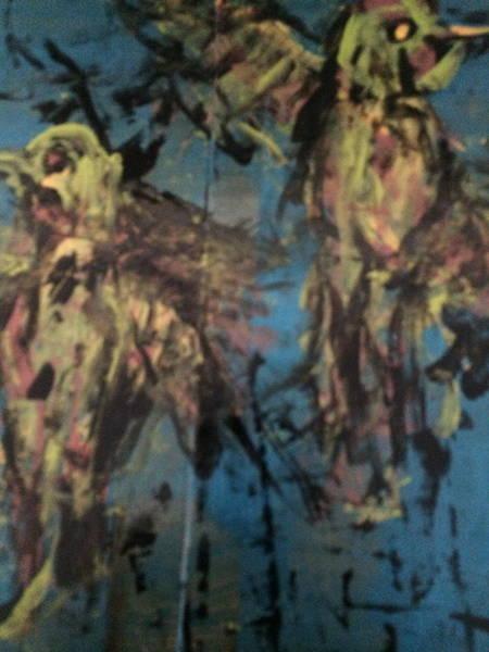 Nectar Mixed Media - Hummingbirds by Charles Long