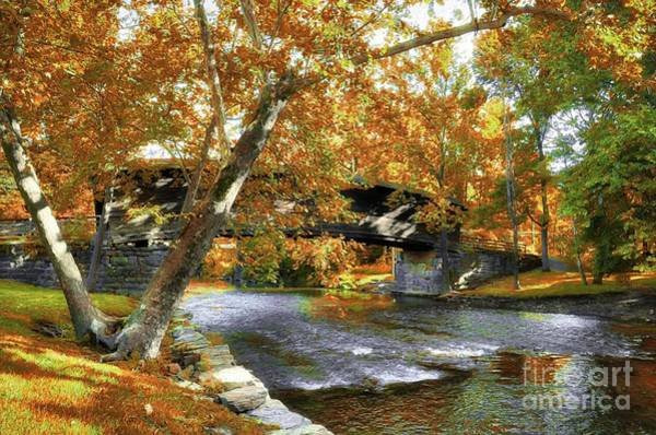 Photograph - Humpback Covered Bridge In Autumn by Mel Steinhauer