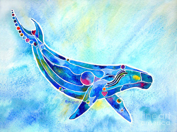Painting - Humpback Whale Blues by Jo Lynch
