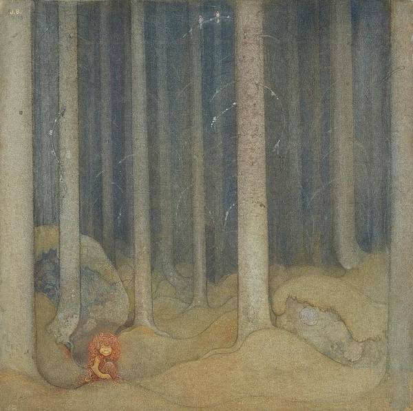 Wall Art - Painting - Humpe In The Woods by John Bauer