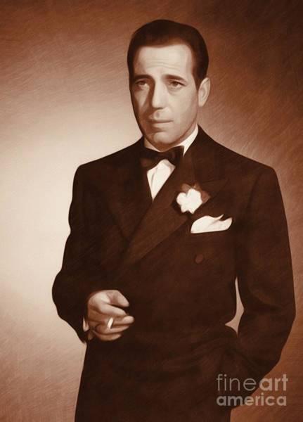 Pinewood Painting - Humphrey Bogart, Actor by John Springfield