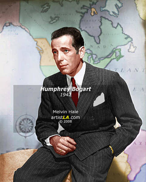 Wall Art - Painting - Humphrey Bogart Circa 1942 by Melvin Hale