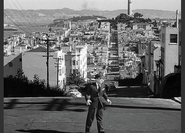 Humphrey Bogart Film Noir Dark Passage Telegraph Hill And Coit Tower San Francisco 1947 Art Print