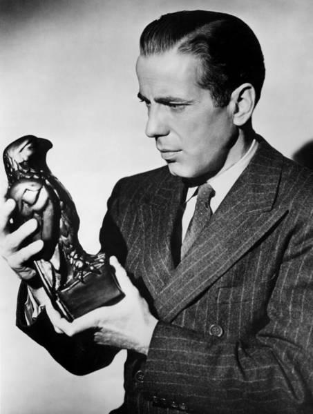 Humphrey Bogart Holding Falcon The Maltese Falcon 1941  Art Print