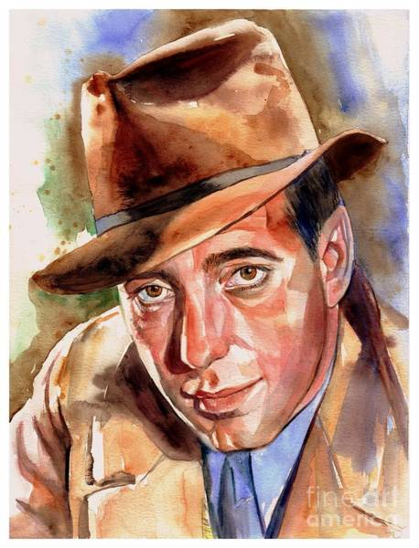 Wall Art - Painting - Humphrey Bogart Portrait by Suzann Sines