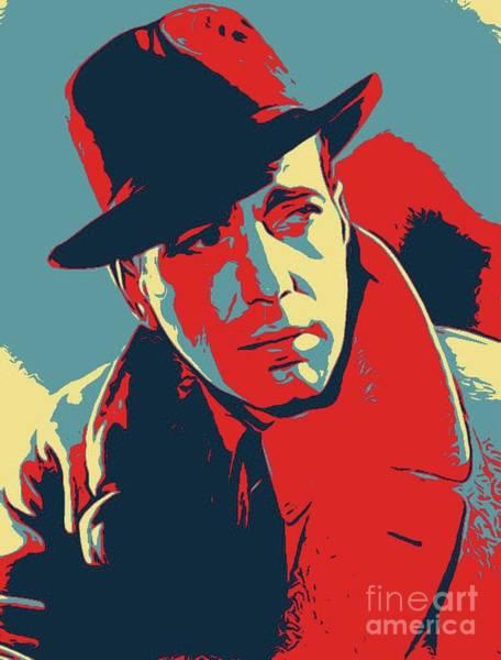 Bogart Digital Art - Humphrey Bogart Poster Art by John Springfield