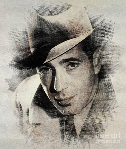 Bogart Digital Art - Humphrey Bogart, Vintage Actor by John Springfield