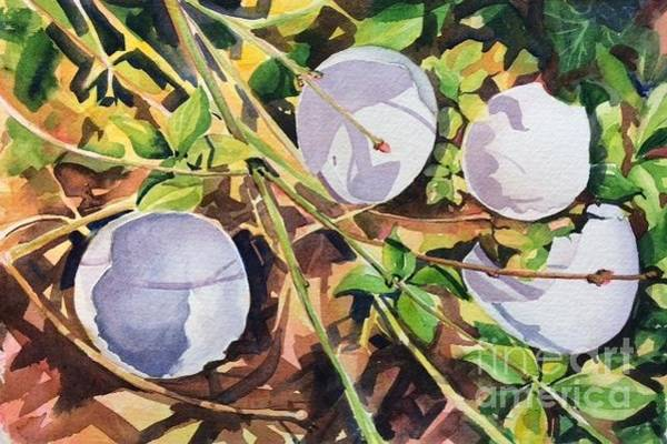 Broken Egg Painting - Humpty Dumpty by Barbara Bullard