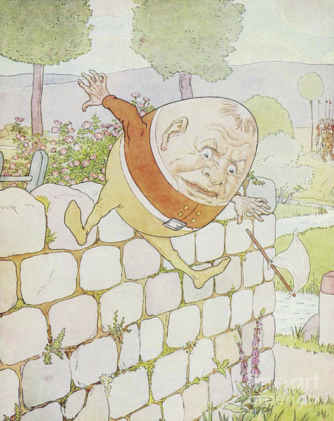 Wall Art - Drawing - Humpty Dumpty Had A Great Fall by Leonard Leslie Brooke